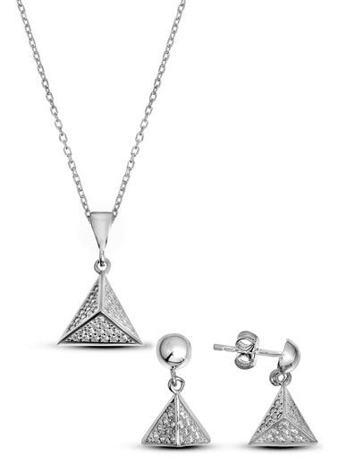 Argentum Concept Gümüş Üçgen Prizma Set - S015402 Gümüş